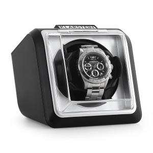 8PT1S One Watch Winder Display Box -Black