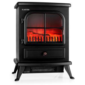 St. Moritz Electric Fireplace Heater 1800W Black
