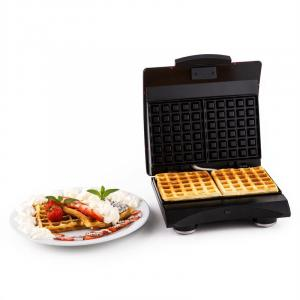 Waffle Buddy Waffle Iron 700W 2 Heating Surfaces Stainless Steel Red Red
