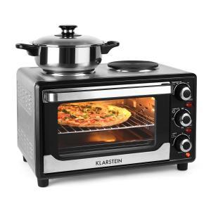 Omnichef 23HB Mini Oven with Hot Plates 1500W 23L Black Black