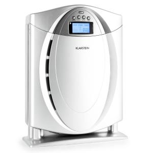 Grenoble Air Purifier Ioniser 4-in-1 Filter Silver Silver