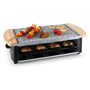 Chateaubriand Raclette Grill Natural Stone Plate Skewers 8 Person 1200W
