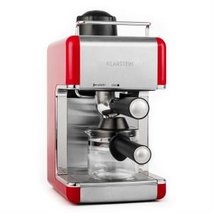 Sagrada Rossa Espresso Machine Stainless Steel 800W 4 Cups Red