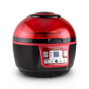 VitAir Turbo Hot Air Fryer 1400W Grilling Baking - Red Black Red