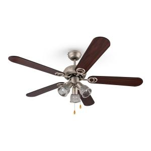 Charleston Retro Ceiling Fan Light 60W 122cm 3 Wooden Blades
