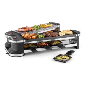 Tenderloin 50/50 Raclette Grill 1200W 8 Persons Natural Stone