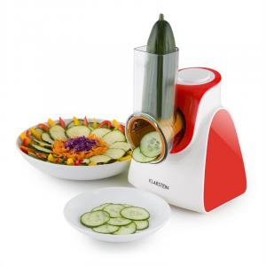 Carrot & Rock Salad Cutter Slicer Grater 150W 5 Attachments Red Red