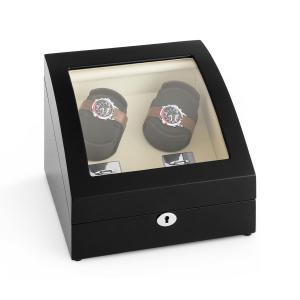 Matterhorn Watch Winder Forward and Reverse Running 4 Watches Black Pure Handmade