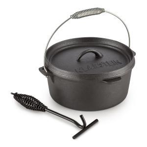 Hotrod 45 Dutch Oven BBQ Pot 4.5 qt / 4 Litre Cast Iron Black