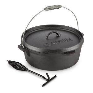 Hotrod 60 Dutch Oven BBQ Pot 6 qt / 5.7 Litre Cast Iron Black