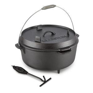 Hotrod 145 Dutch Oven BBQ Pot 12 qt / 11.4 Litre Cast Iron Black