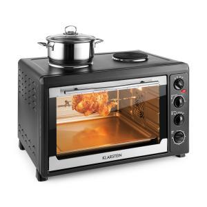 MasterChef 60 Mini Oven 2500W + 1600W 60 Litre Stainless Steel Black Black