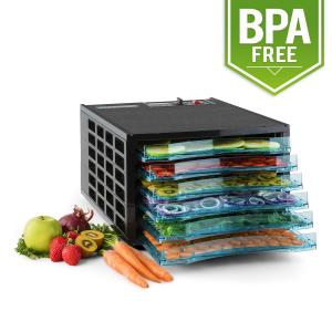 Fruit Jerky 6 Basic Dehydrator Machine Food Dryer 630W 6 Floors BPA Free 6 stages