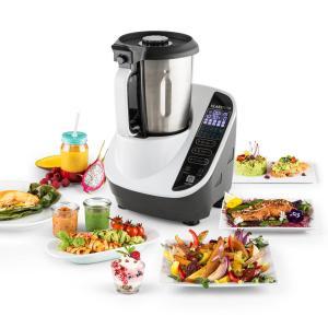 Food Circus Kitchen Machine Steamer 500/1100W black/white stainless steel White