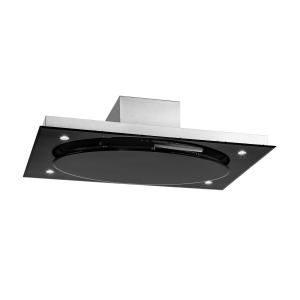 Secret Service Ceiling-Mounted Hood Extractor Hood 220W Touch Glass LED Black