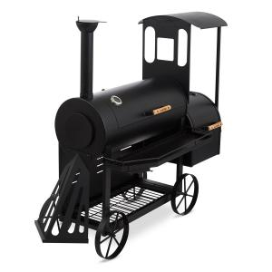 Dampflok Smoker Grill 3 mm Steel black