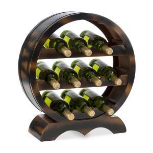 Barrica Wood Wine Rack Wine Barrels Bottle Rack 10 Bottles Spruce