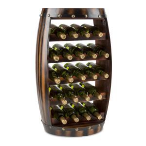 Barrica Wood Wine Rack Wine Barrels Bottle Rack 22 Bottles Spruce