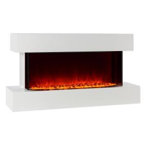 Studio-2 Electric Fireplace LED Flame Simulation 1000/2000 W 40m² White