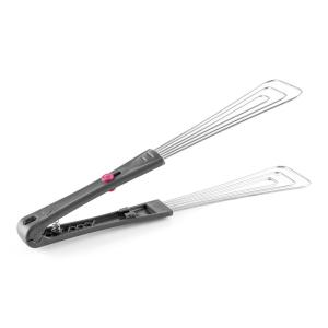 Barbecue Tongs Accessory Stainless Steel Black