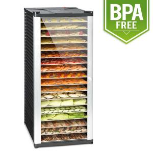 Fruit Jerky 18 Dehydrator 1000 W 18 Stainless Steel Tiers Black 18 stages
