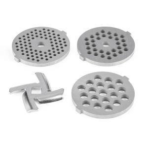4-piece Perforated Disc Set For Lucia Kitchen Machine Set 3-4 mm, 5-7 mm