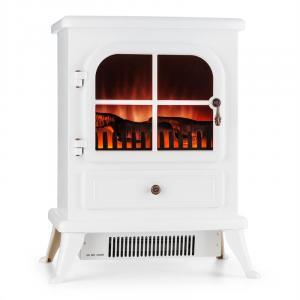 St. Moritz Electric Fireplace 1850 W Flame Illusion Smoke-Free White White