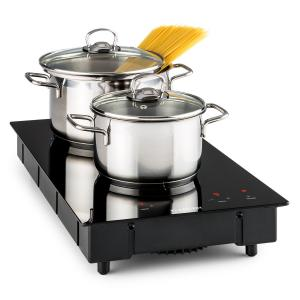 VariCook Domino Induction Hob Double Hotplate 3100W Glass Ceramic