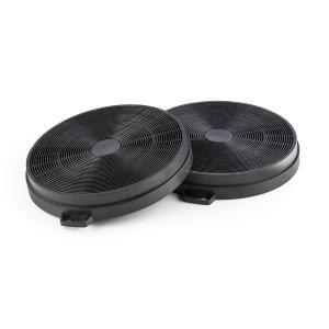 Activated Carbon Filter Extractor Hoods Replacement 2 Pcs Recirculation Mode Ø206mm