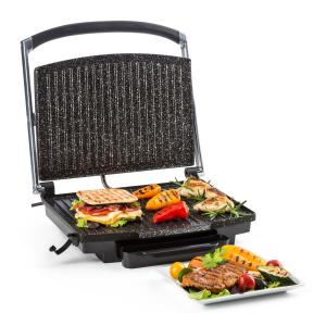 Edelstein Multi-Contact Grill Panini Maker 2000W 240 ° C Stainless Steel Black Black