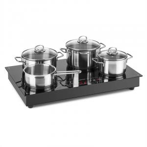 Deejay Free Zone Induction Hob 3500 W Glass Ceramic Touch Black