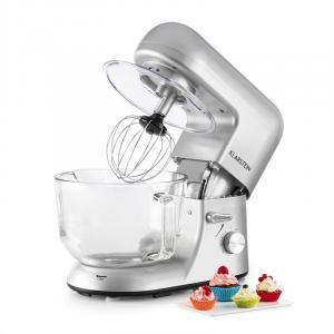 Bella Argentea 2G Kitchen Machine 1200W 2.5 / 5 Litre Glass Bowl Silver Silver