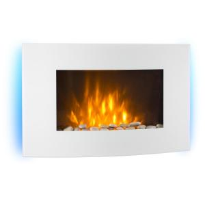 Lausanne Electric Fireplace 2000 Watts Remote Control White White