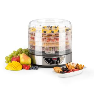 Fruitower D Dehydrator 35-70°C Timer 5 Trays 200-240Wbrushed stainless steel chassis 5_stages_timer