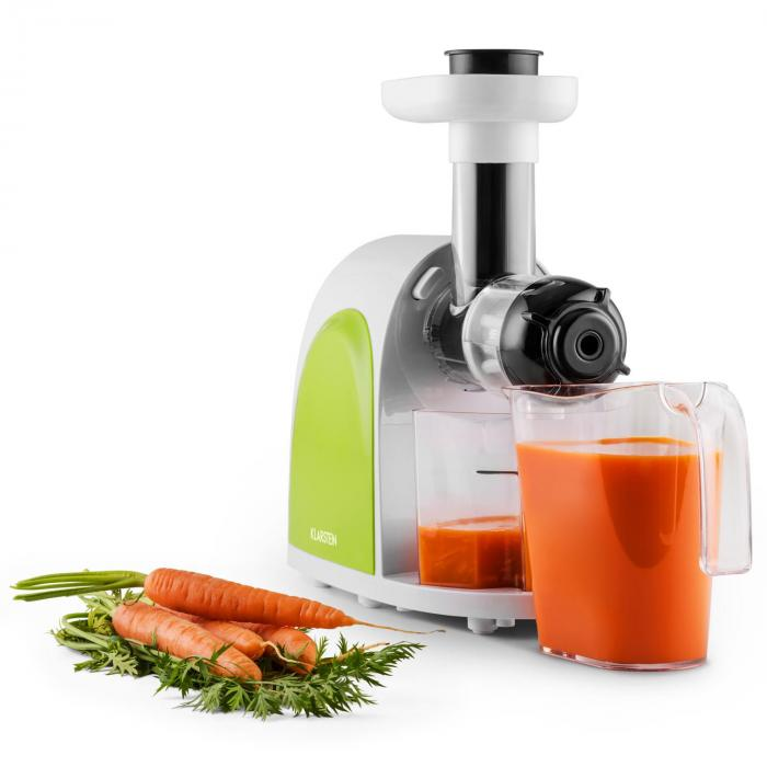 Klarstein Fruit Berry Slow Juicer Review : Slow Juicer 150W 80rpm Green / White Klarstein