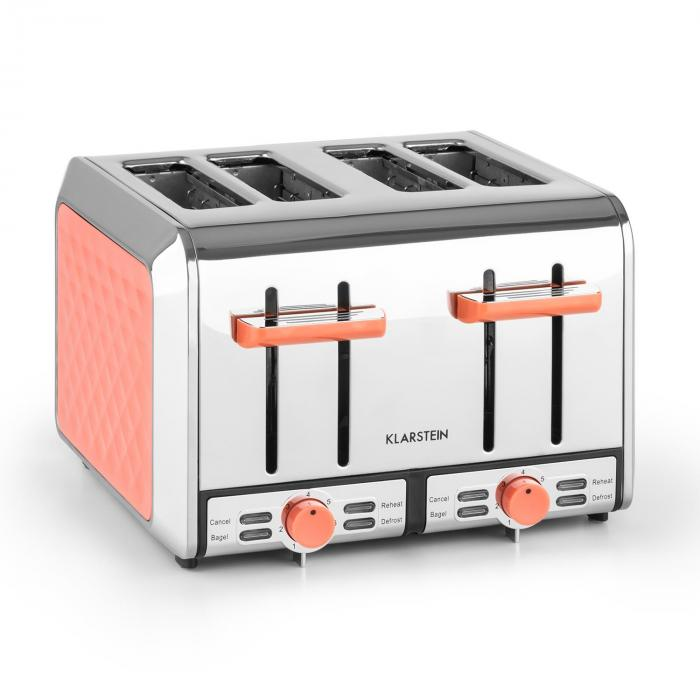 curacao coral toaster 4 slice toaster stainless steel 1500. Black Bedroom Furniture Sets. Home Design Ideas