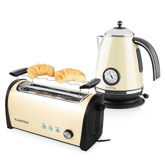 Cooking & Baking Equipment Cambridge Breakfast Set Cream/Beige 2200W Kettle 1,7L | 1400W Toaster