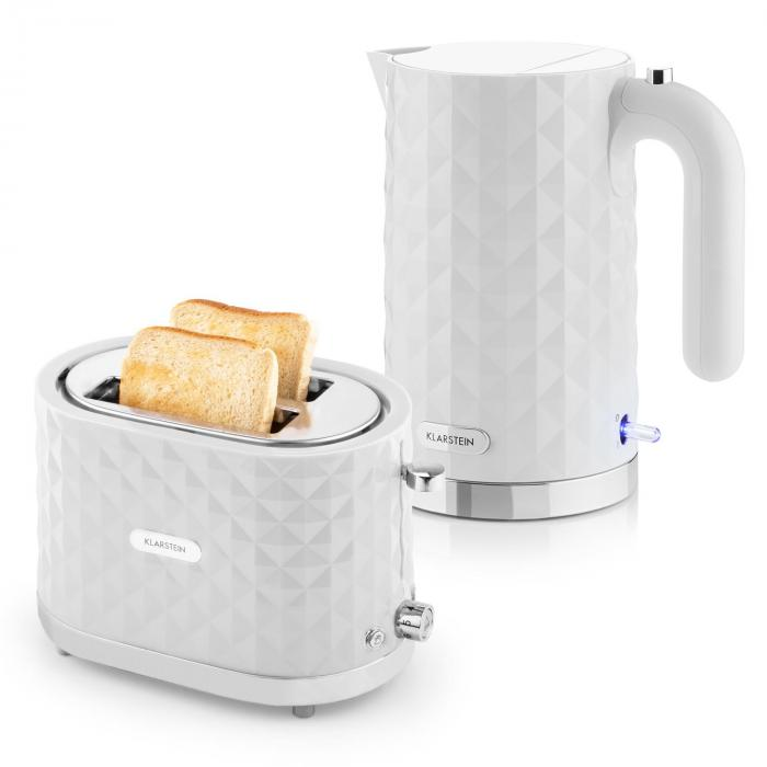 Cooking & Baking Equipment Granada Bianca Breakfast Set2000W Kettle | 1000W Toaster | white