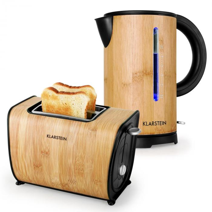 Cooking & Baking Equipment Bamboo Garden Breakfast Set Small Kettle |Toaster | Bamboo