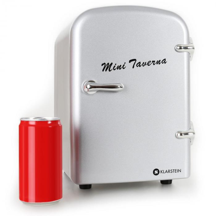 mini taverna portable cooler 4l cool box silver silver klarstein. Black Bedroom Furniture Sets. Home Design Ideas