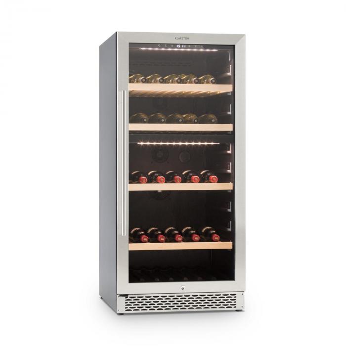 Botella 120d Wine Cooler 261 Liter 2 Zones Stainless Steel