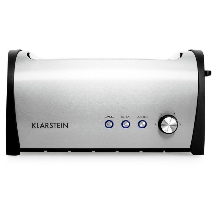 Cambridge4 Two Slot Toaster 1400w Silver Klarstein