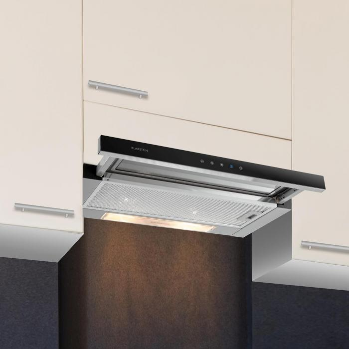 Elitessa Cooker Hood 60cm Air Recirculater 330m 179 H Klarstein