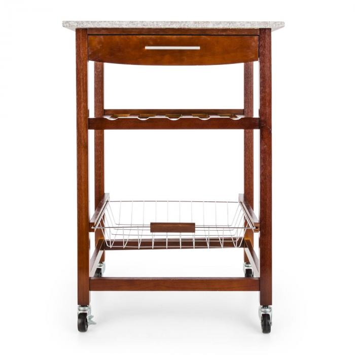 Room Service Serving Trolley Kitchen Wagon Wine Rack