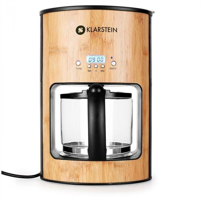 Best Coffee Maker With Timer : Bamboo Garden Coffee Maker 1080W 1.25L Timer Klarstein