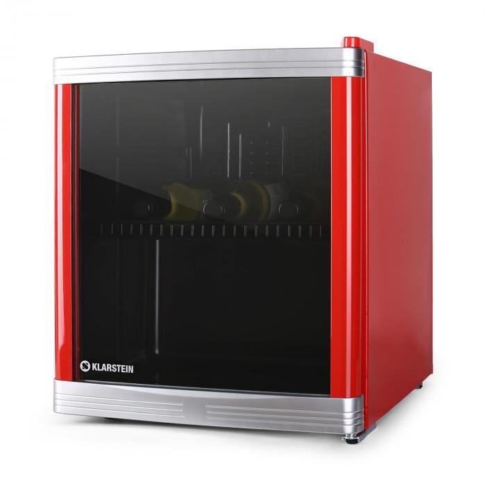 cool locker mini fridge 46l class b red klarstein. Black Bedroom Furniture Sets. Home Design Ideas