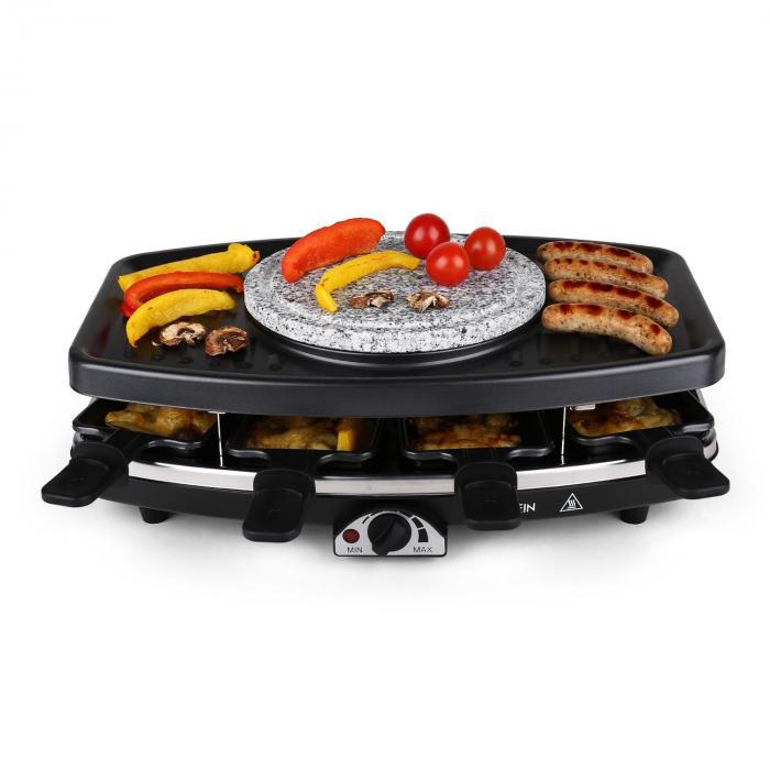 Entrecote Fondle Raclette Grill Stone Fondue 1100w 8 Ppl