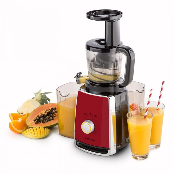 Klarstein Sweetheart Slow Juicer Review : Sweetheart Juicers Slow Juicer 150W 32RPM red Red Klarstein