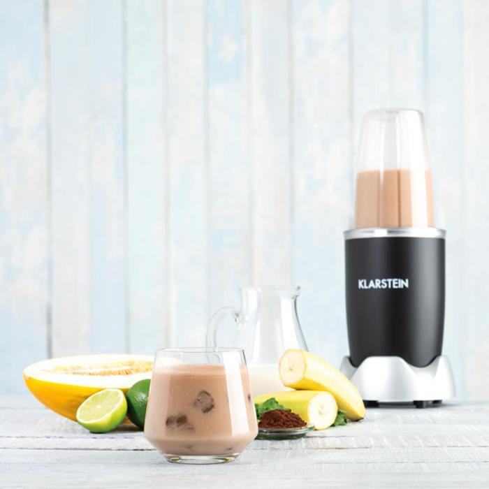nutrirocket mixer smoothie maker multifunction 10 pcs 700w black black klarstein. Black Bedroom Furniture Sets. Home Design Ideas