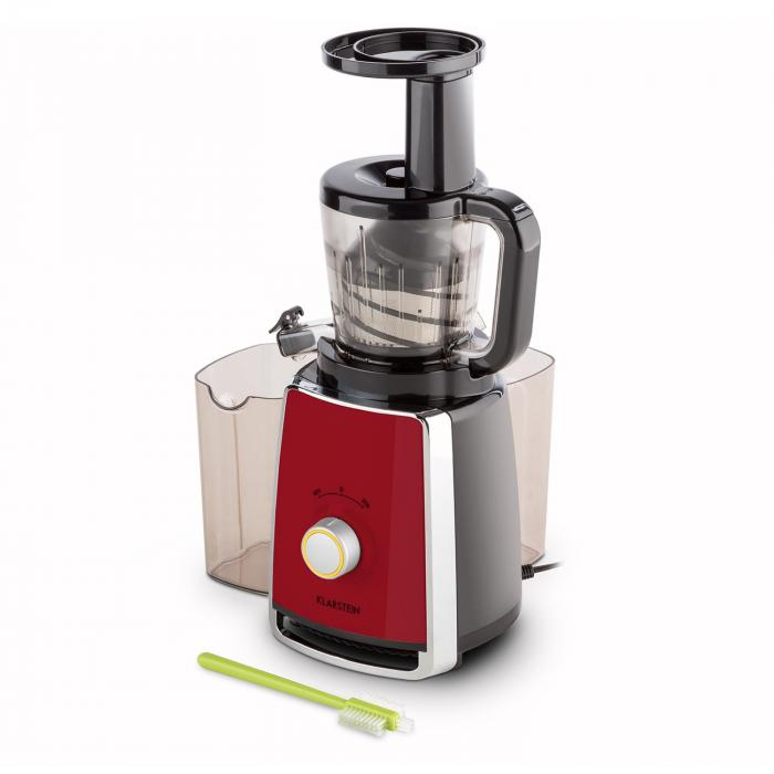 Slow Juicer Spinach : Sweetheart Juicers Slow Juicer 150W 32RPM red Red Klarstein